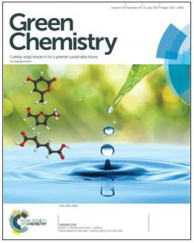 The CBiRC article, Bioprivileged Molecules: Creating Value from Biomass, was featured in Green Chemistry, July 2017