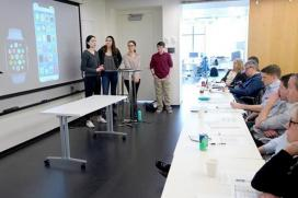 Students present their concept for PanicAway