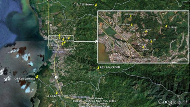 A map of western puerto rico showing the locations of rain gauges a map of western puerto rico showing the locations of rain gauges publicscrutiny Image collections